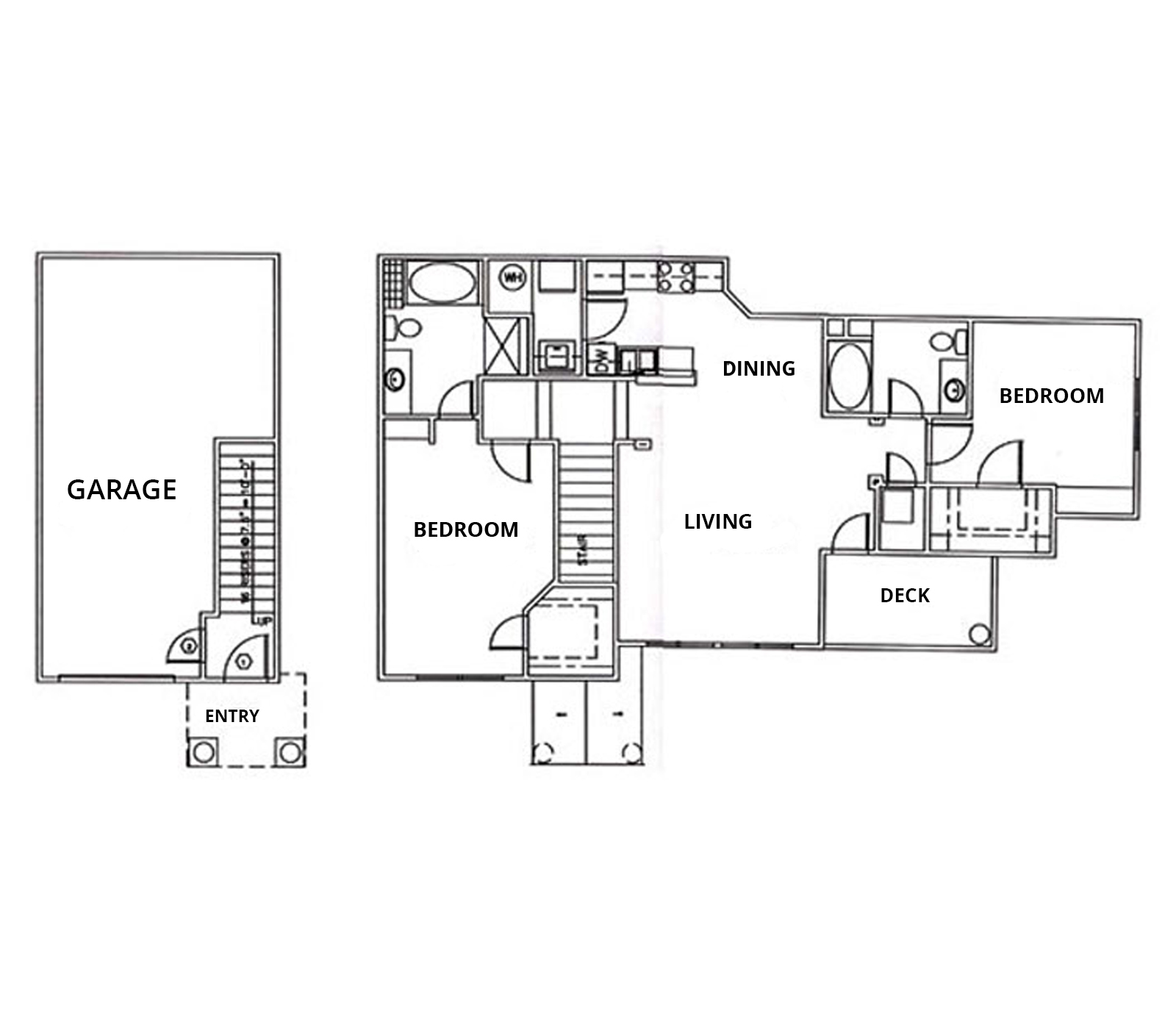 2 Bedrooms, 2 Baths, Over-sized Car Garage