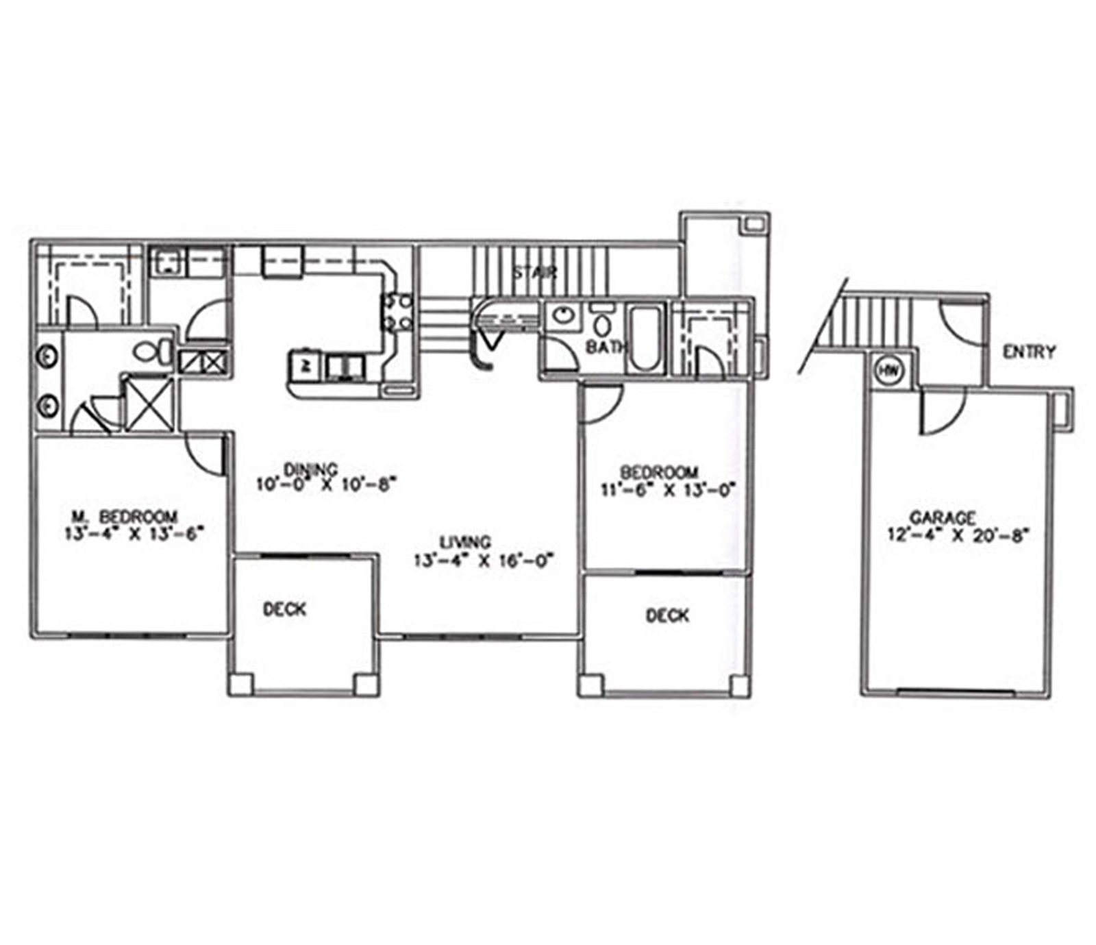2 Bedrooms, 2 Baths, 1 Car Garage