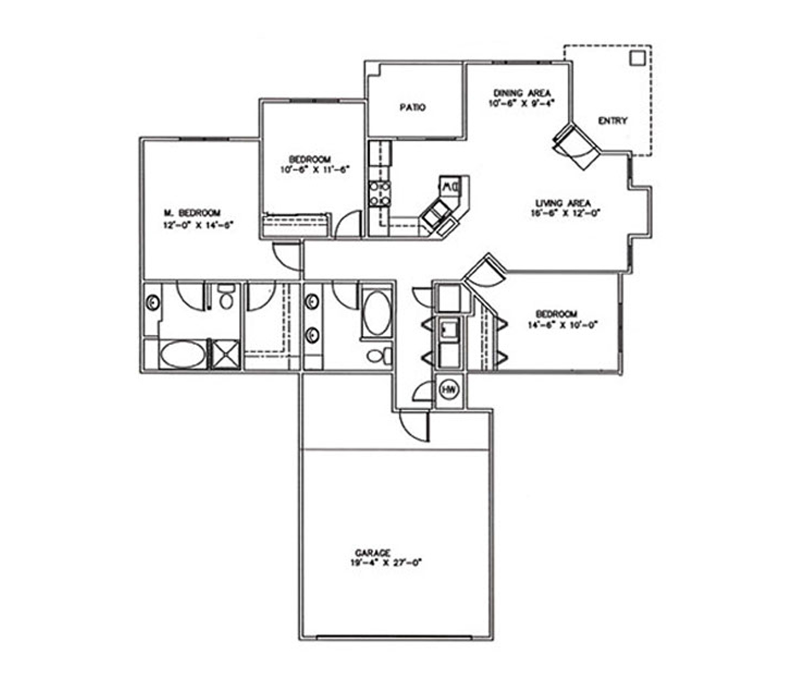 3 Bedrooms, 2 Baths, 2 Car Garage